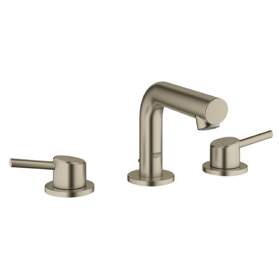 Concetto Mid-Arc Widespread Double Handle Bathroom Faucet Finish: Brushed Nickel