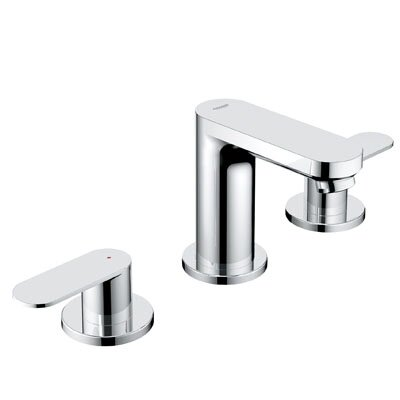Eurosmart Double Handle Widespread Bathroom Faucet