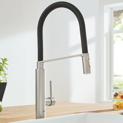 Concetto Semi Pro Single Handle Kitchen Faucet Finish: Supersteel