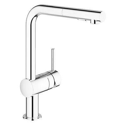 Minta Single Handle Pull-Out Kitchen Faucet Finish: Polished Chrome