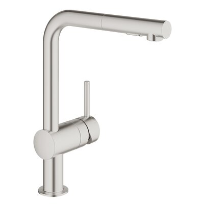 Minta Single Handle Pull-Out Kitchen Faucet Finish: Super Steel