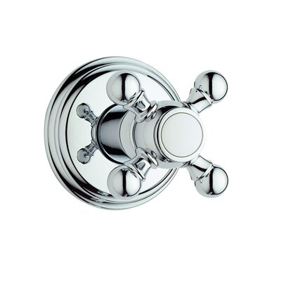 Geneva Volume Control Shower Faucet Trim with Cross Handle Finish: Satin Nickel/Polished Brass