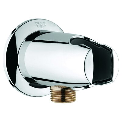 Movario Wall Union with Hand Shower Holder Finish: Chrome