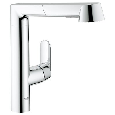 K7 Single Handle Single Hole Standard Kitchen Faucet with Water Care and Pull Out Spray Finish: Chrome, Flow Rate: 1.5