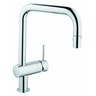 Minta Single Handle Single Hole Standard Kitchen Faucet Finish: Chrome
