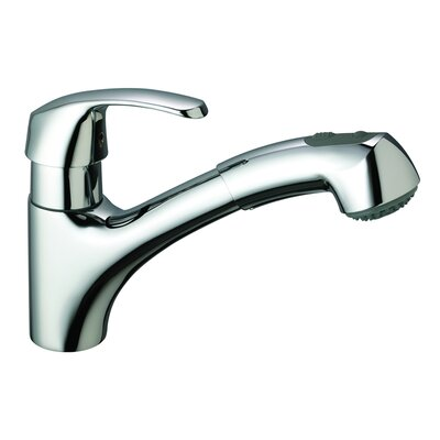 Alira Single Handle Single Hole Standard Kitchen Faucet with Dual Spray Finish: Chrome, Flow Rate: 1.75 GPM