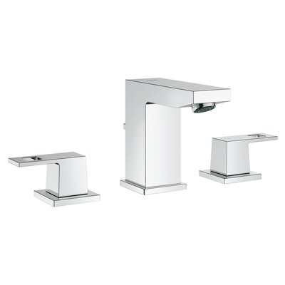 Eurocube Double Handle Widespread Bathroom Faucet
