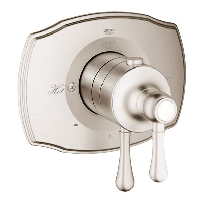 GrohFlex Authentic Dual Function Thermostatic Trim with Control Module and TurboStat Technology Finish: Brushed Nickel
