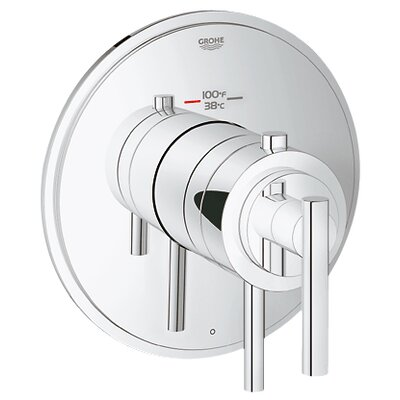 GrohFlex Timeless Single Function Thermostatic Trim with Control Module Finish: Chrome