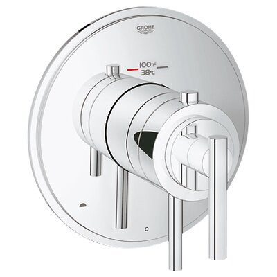GrohFlex Timeless Dual Function Thermostatic Trim with Control Module Finish: Chrome