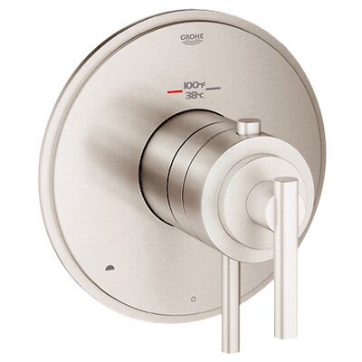 GrohFlex Timeless Dual Function Thermostatic Trim with Control Module Finish: Brushed Nickel