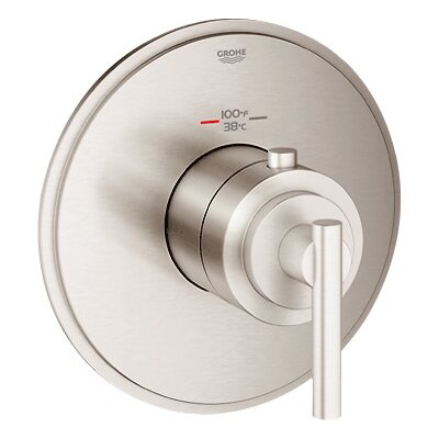 GrohFlex Timeless Custom High Flow Shower Thermostatic Trim with Control Module Finish: Brushed Nickel