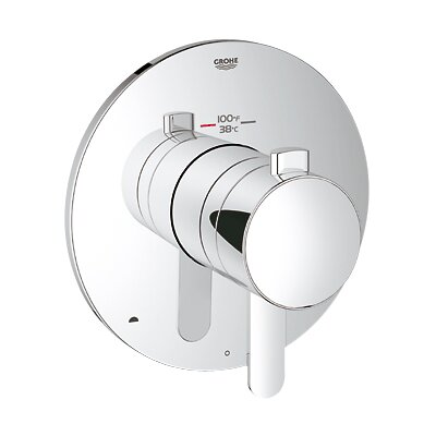 GrohFlex Cosmopolitan Dual Function Thermostatic Trim with Control Module Finish: Chrome