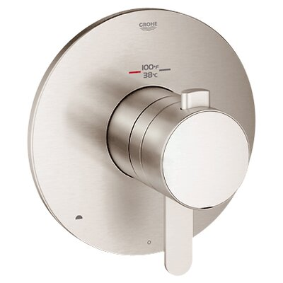 GrohFlex Cosmopolitan Dual Function Thermostatic Trim with Control Module Finish: Brushed Nickel