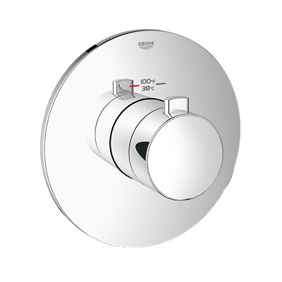 GrohFlex Cosmopolitan Custom Shower Thermostatic Trim with Control Module Finish: Chrome