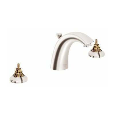 Arden Widespread Bathroom Faucet, Less Handles Finish: Brushed Nickel