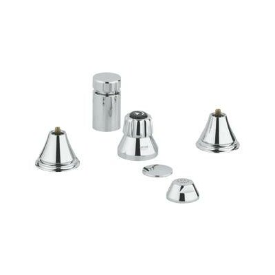 Geneva Vertical Spray Bidet Faucet, Less Handles Finish: Starlight Chrome