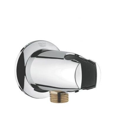 Movario Wall Union with Hand Shower Holder Finish: Polished Brass