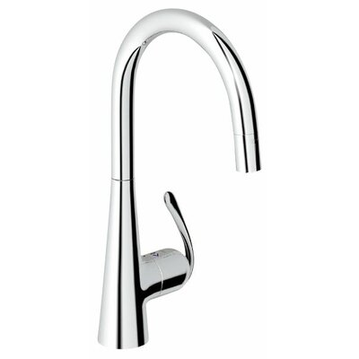 Ladylux3 Single Handle Single Hole Standard Kitchen Faucet with Dual Spray Pull Down and Lever Handle Finish: Chrome