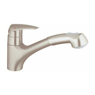 Eurodisc Standard Single Handle Kitchen Faucet Finish: Super Steel, Flow Rate: 1.75 GPM