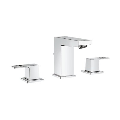 Eurocube Widespread Bathroom Sink Faucet with Double Lever Handles