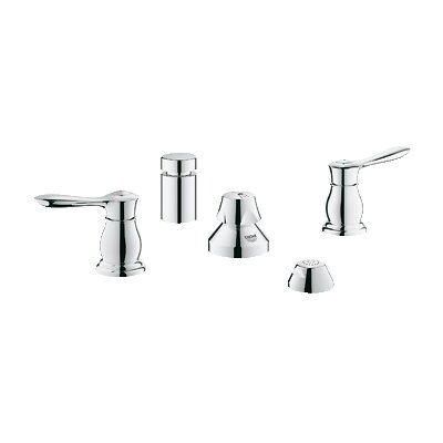 Parkfield Double Handle Vertical Spray Bidet Faucet Finish: Chrome