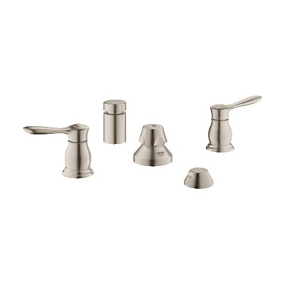 Parkfield Double Handle Vertical Spray Bidet Faucet Finish: Brushed Nickel
