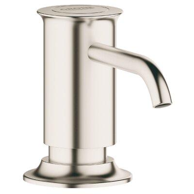 Authentic Soap Dispenser Finish: Brushed Nickel