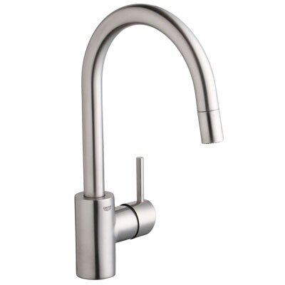 Concetto Single Handle Single Hole Standard Kitchen Faucet Finish: SuperSteel
