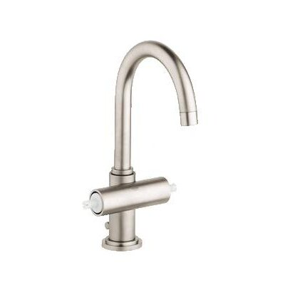 Atrio Single Hole Bathroom Faucet, Less Handles Finish: Brushed Nickel