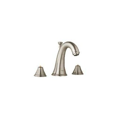 Geneva Widespread Bathroom Faucet, Less Handles Finish: Brushed Nickel