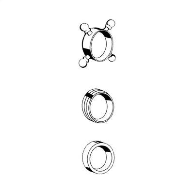 Decorative Cross Handle Ring Finish: Chrome
