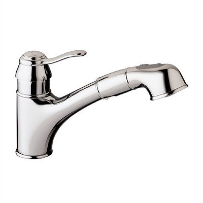Ashford Single Handle Single Hole Standard Kitchen Faucet Finish: Chrome