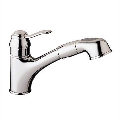 Ashford Single Handle Single Hole Standard Kitchen Faucet Finish: Chrome