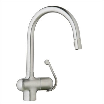 Ladylux Single Handle Single Hole Standard Kitchen Faucet with Dual Spray Pull Out