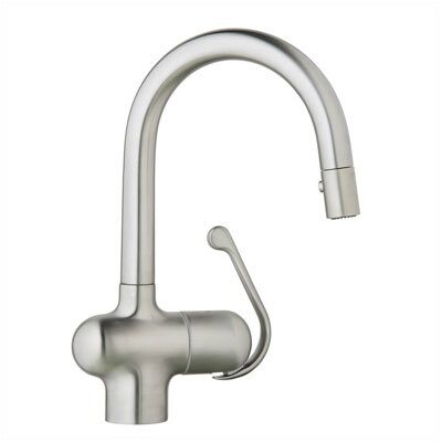 Ladylux Single Handle Single Hole Bar Faucet with Pull Out Spray