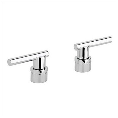 Atrio Lever Handles for Roman Tub Fillers Finish: Sterling