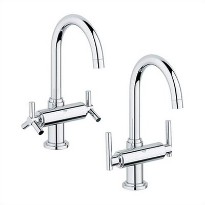 Atrio Single Hole Bathroom Faucet, Less Handles Finish: Chrome