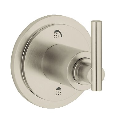 Atrio 3 Port Diverter Faucet Trim with Lever Handle Finish: Brushed Nickel