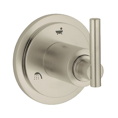 Atrio 5 Port Diverter Faucet Trim with Lever Handle Finish: Brushed Nickel