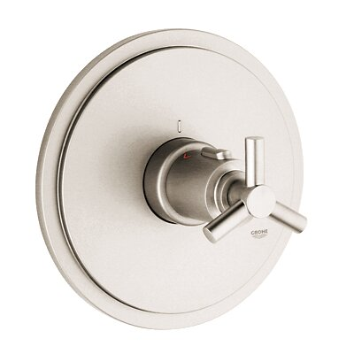 Atrio Thermostatic Faucet Trim with Spoke Handle Finish: Brushed Nickel