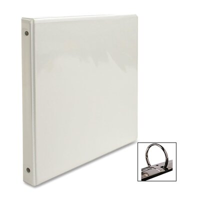View Binder, w/ 2 Inside Pockets, 1/2 Capacity, White (Set of 3)
