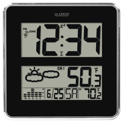 La Crosse Technology Atomic Digital Wall Clock with Forecast and Weather