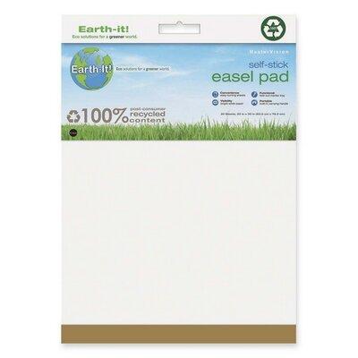 """Earth It! Self-stick Easel Pad, Plain, 25""""x30"""", 30 Sh/PD, 2/PK, White FL1218207"""