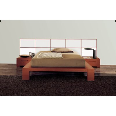 Soho Platform Bed Size: California King, Finish: Ivory Glossy Lacquered