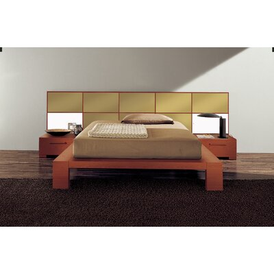 Soho Platform Bed Size: California King, Finish: Gold Glossy Lacquered
