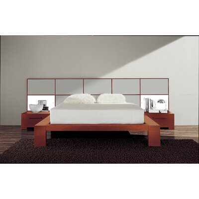 Soho Platform Bed Size: King, Finish: Silver Glossy Lacquered