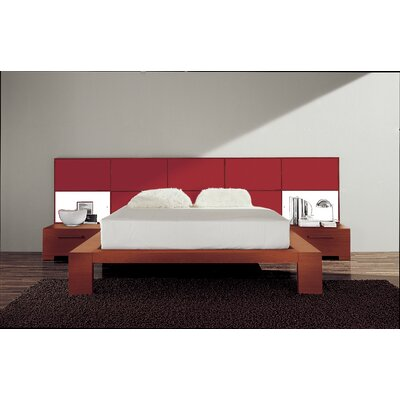 Soho Platform Bed Size: King, Finish: Burgundy Glossy Lacquered