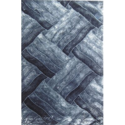 Glam Gray/Blue Area Rug Rug Size: 53 x 710