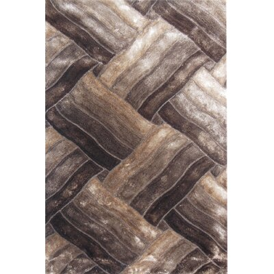 Glam Beige/Brown Area Rug Rug Size: 53 x 710